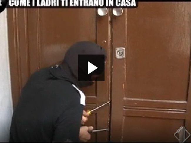 Come i ladri ti entrano i casa: il video de Le Iene su un topo d'appartamento