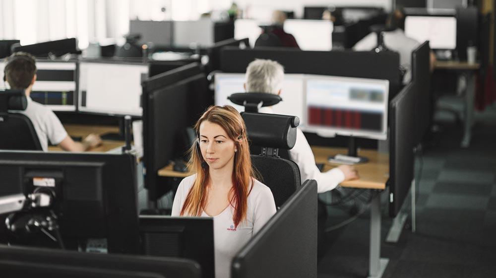 Dipendente Verisure al lavoro