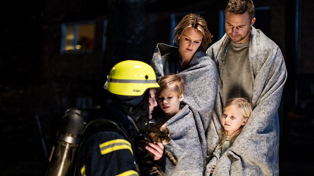 Famiglia soccorsa dai Vigili del Fuoco